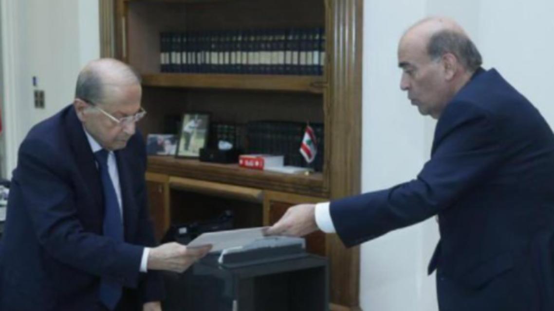 وزير الخارجية شربل وهبة ورئيس الجمهورية اللبناني ميشال عون