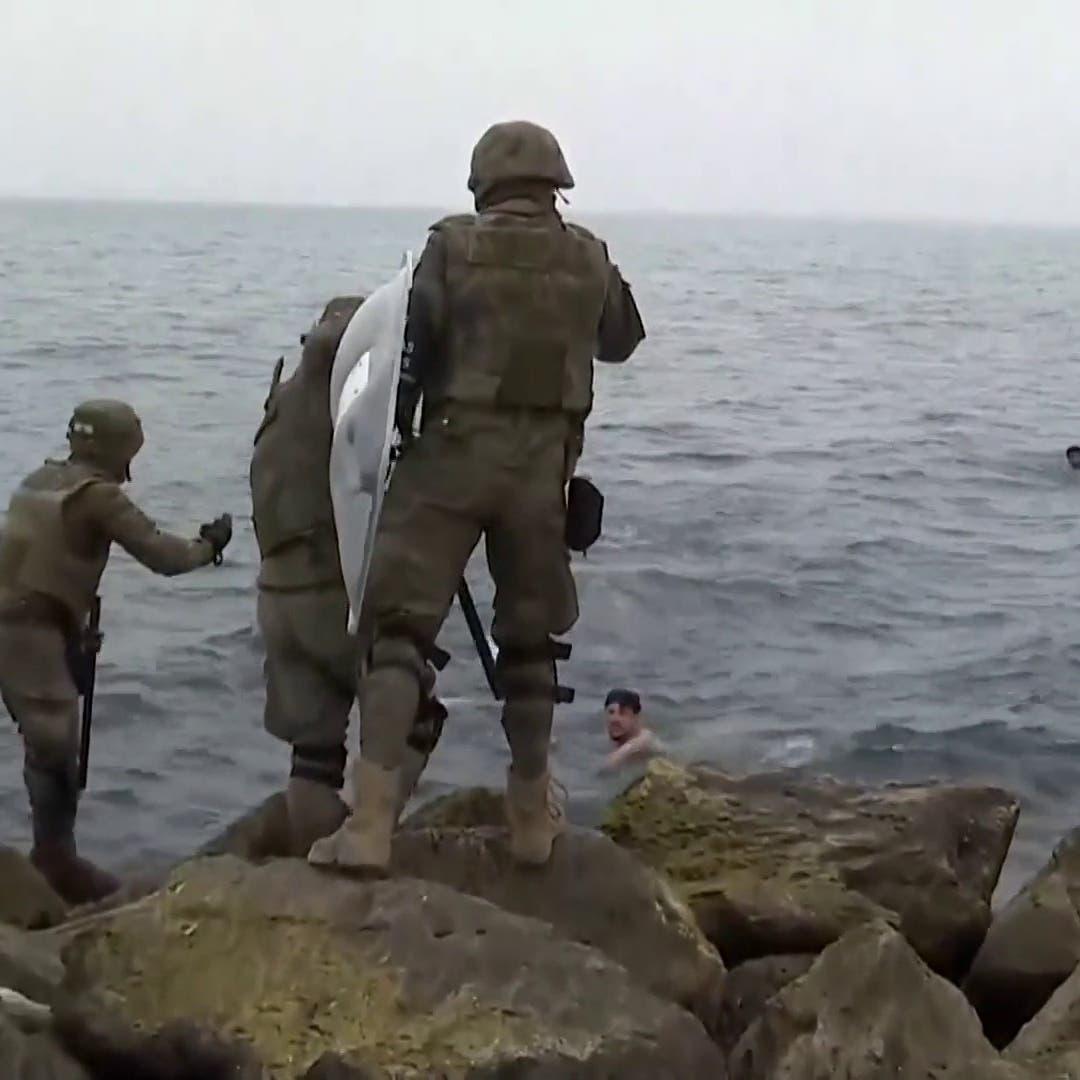 فيديو لمهاجرين يعبرون المتوسط سباحة باتجاه سبتة