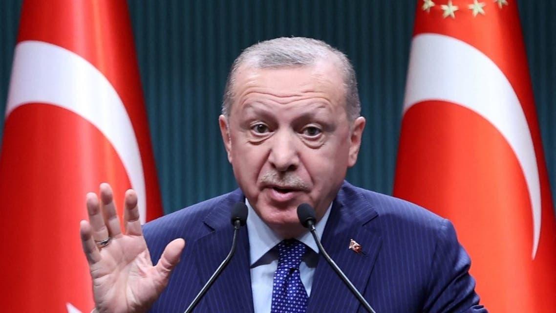 الرئيس التركي رجب طيب أردوغان - فرانس برس