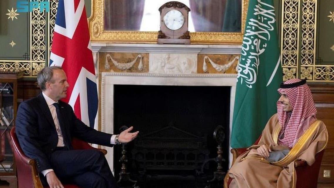 وزير الخارجية السعودي ووزير الخارجية البريطاني في لندن