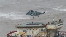 Indian navy searches for 78 missing from barge sunk by storm