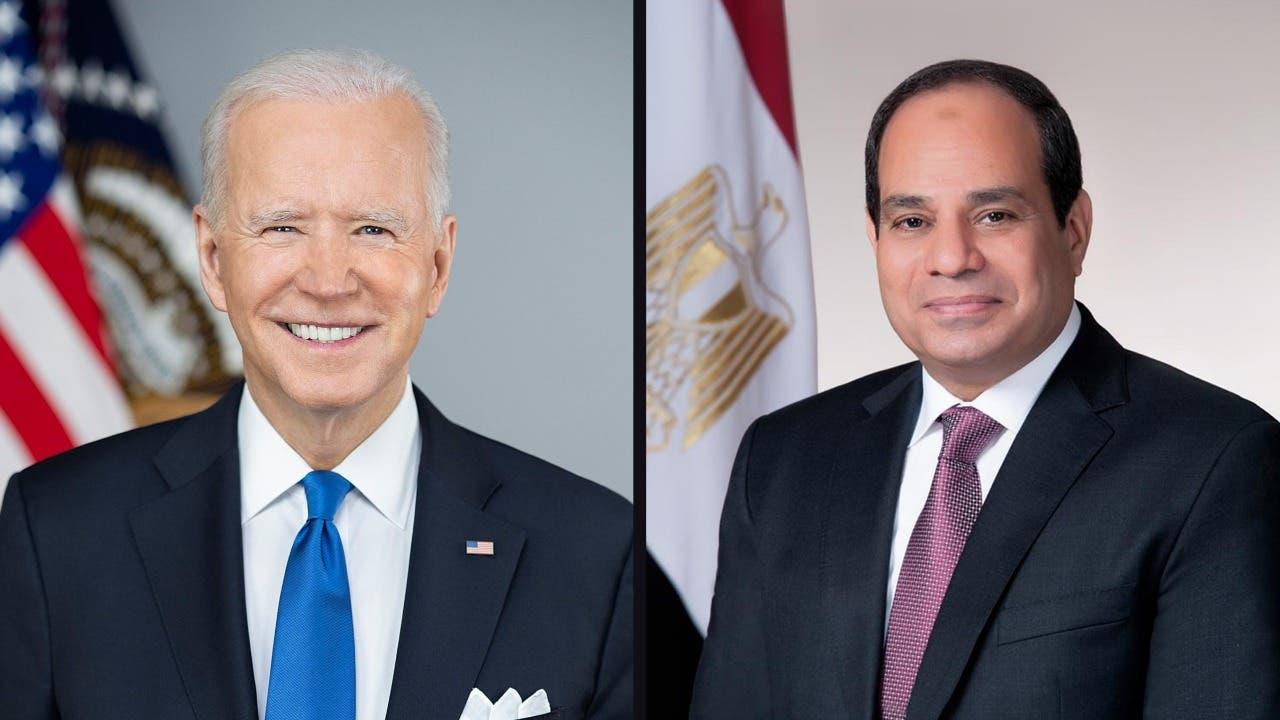 الرئيسان المصري السيسي والأميركي بايدن