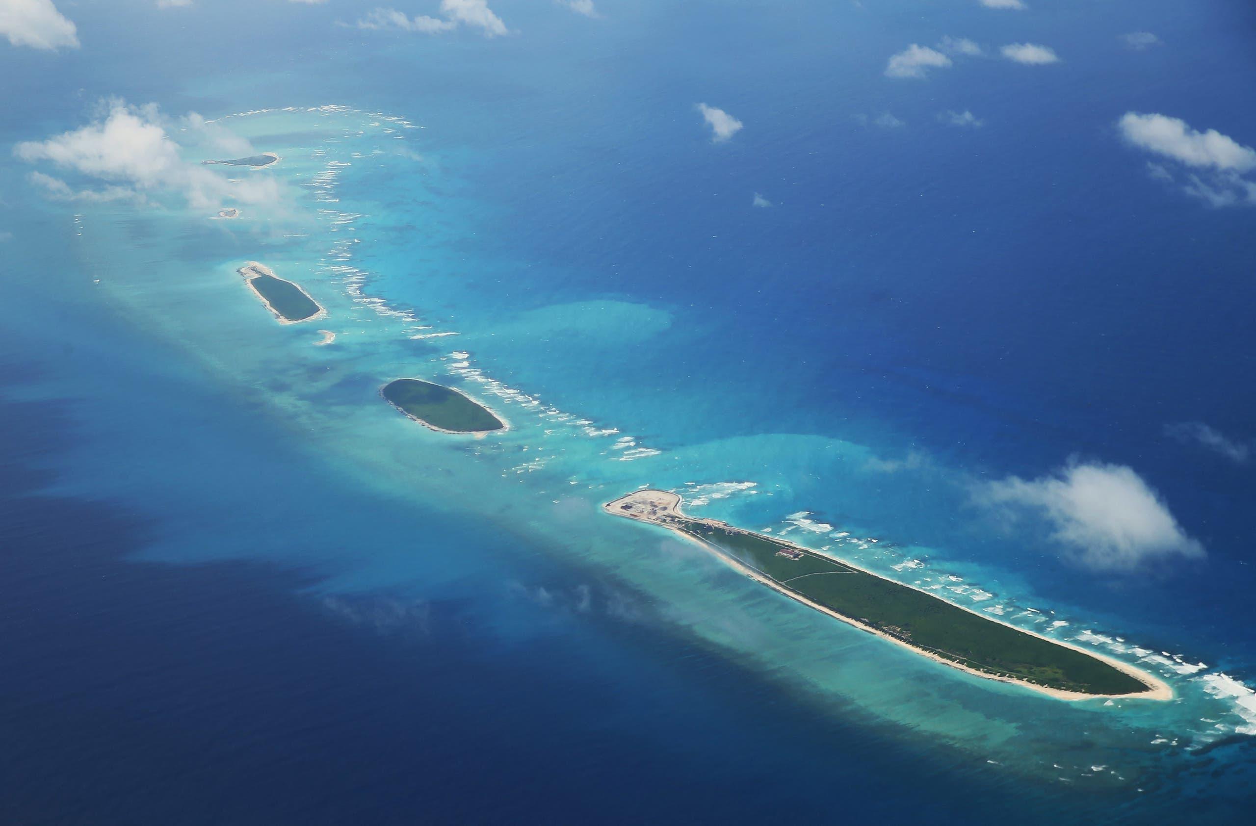 جزء من جزر باراسيل في بحر الصين الجنوبي