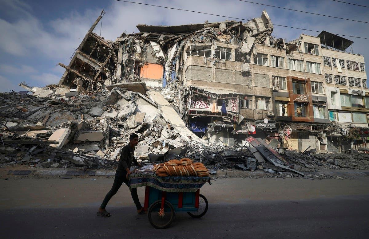 من غزة يوم 20 مايو (فرانس برس)