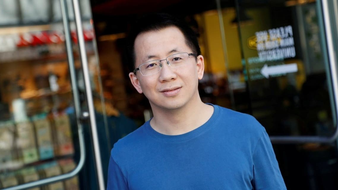 Zhang Yiming, founder and global CEO of ByteDance, poses in Palo Alto, California, US, on March 4, 2020. (Reuters)