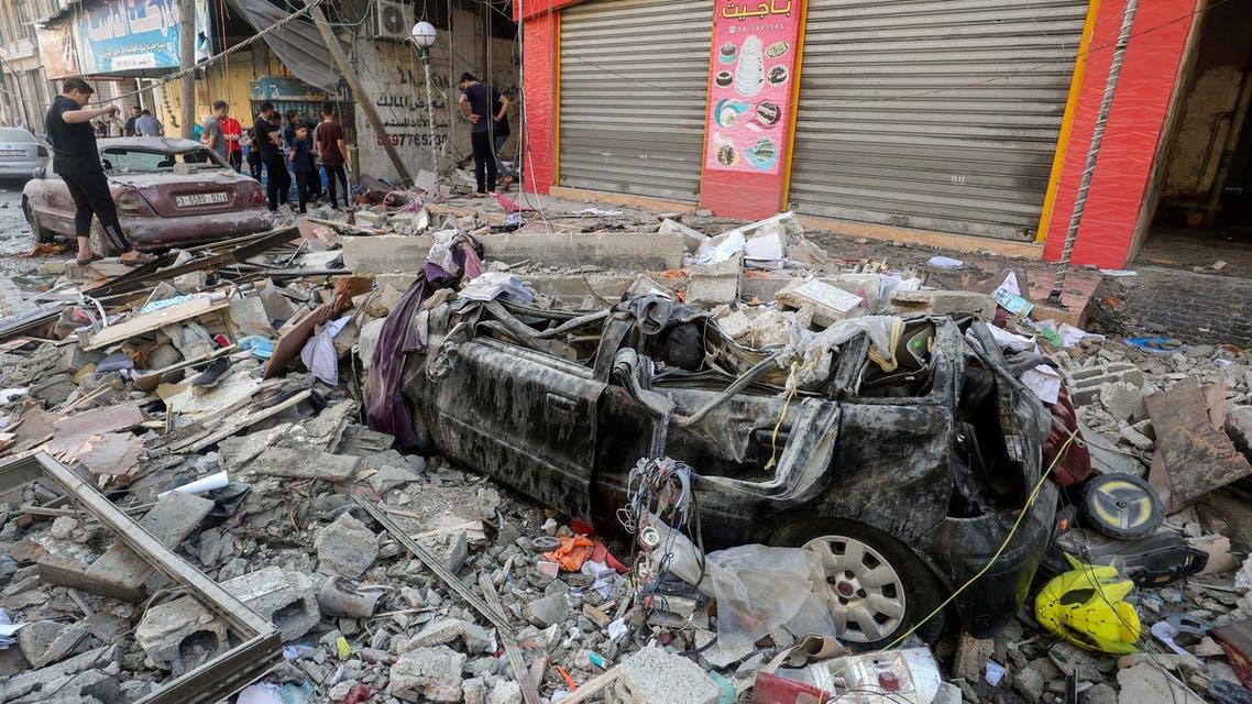 من الدمار لذي خلفه القصف الإسرائيلي على غزة