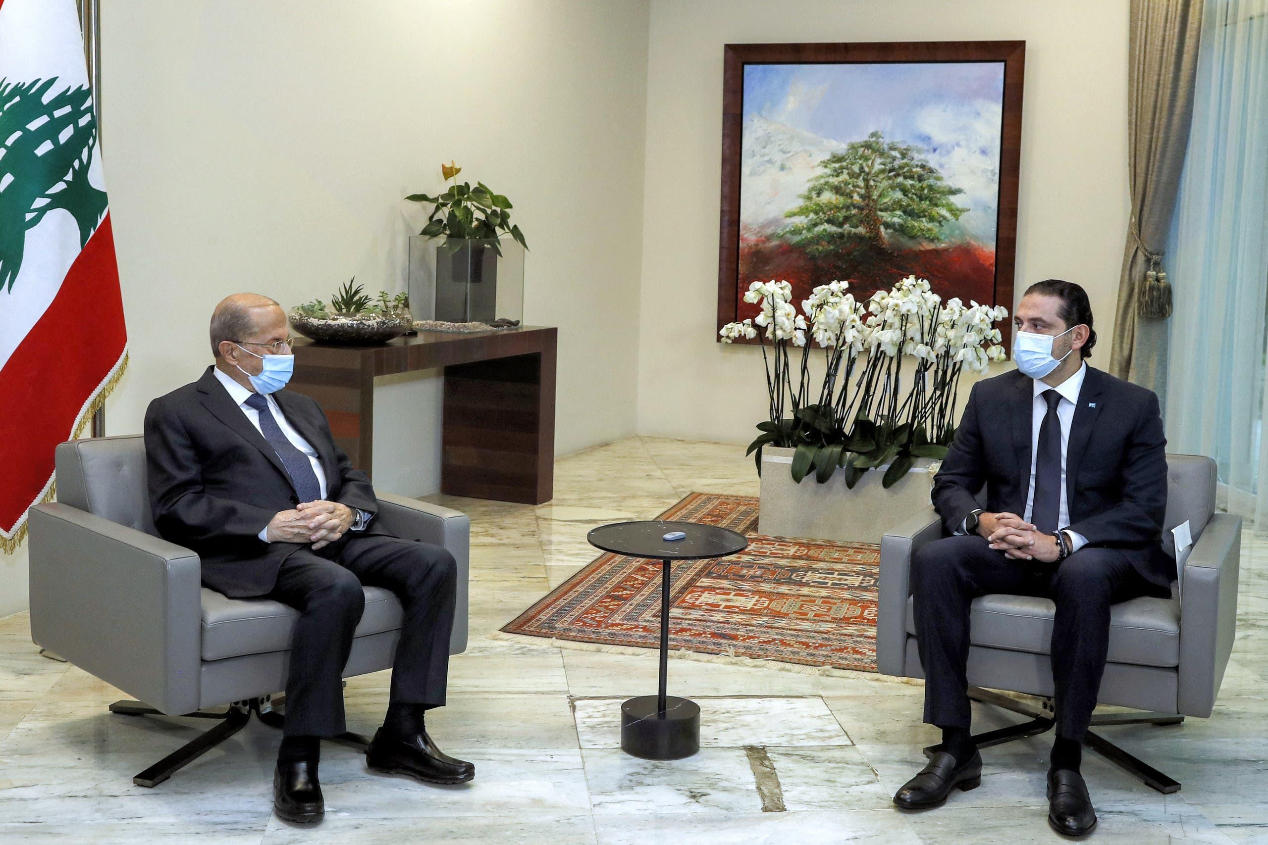 عون استقبل الحريري في قصر بعبدا في مارس الماضي