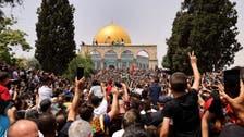 مسجد اقصیٰ کے صحن میں فلسطینیوں اور اسرائیلی پولیس میں جھڑپیں