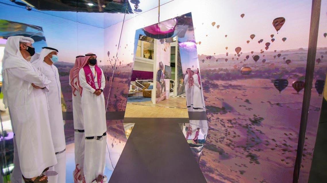 من المعرض السعودي المشارك في سوق السفر
