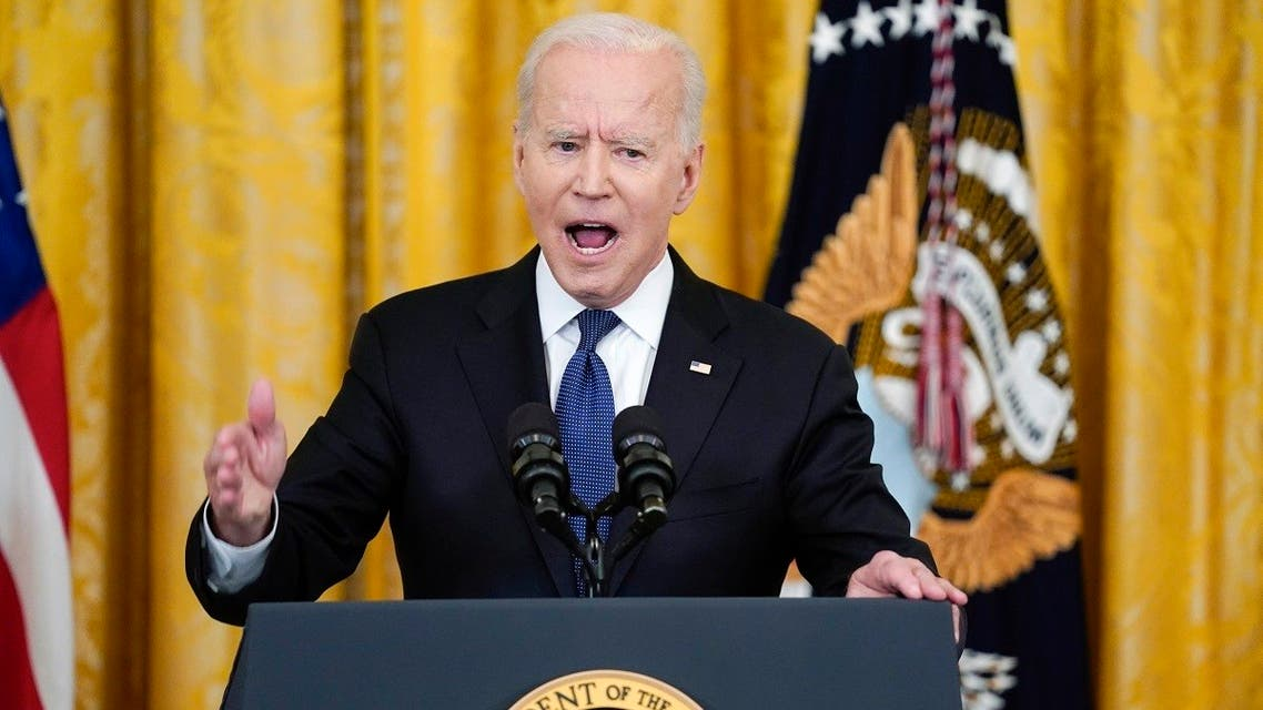 President Joe Biden speaks before signing the COVID-19 Hate Crimes Act, at the White House, May 20, 2021. (AP)