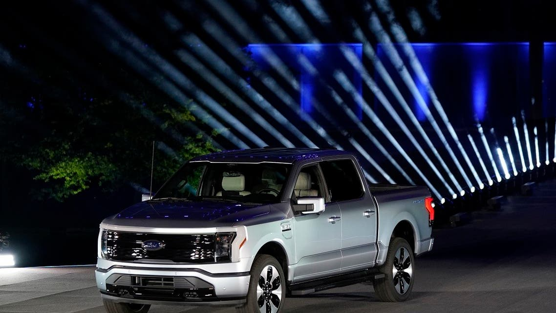 The Ford F-150 Lightning is unveiled, May 19, 2021, in Dearborn, Mich. (AP)