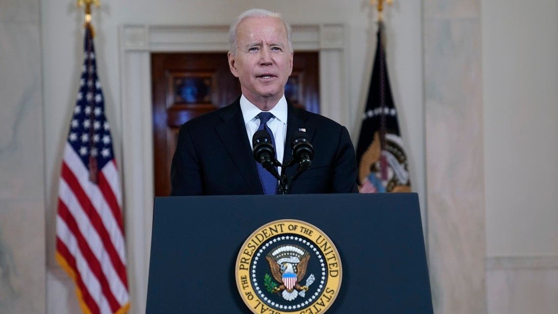 President Joe Biden speaks about a ceasefire between Israel and Hamas, May 20, 2021 (AP)