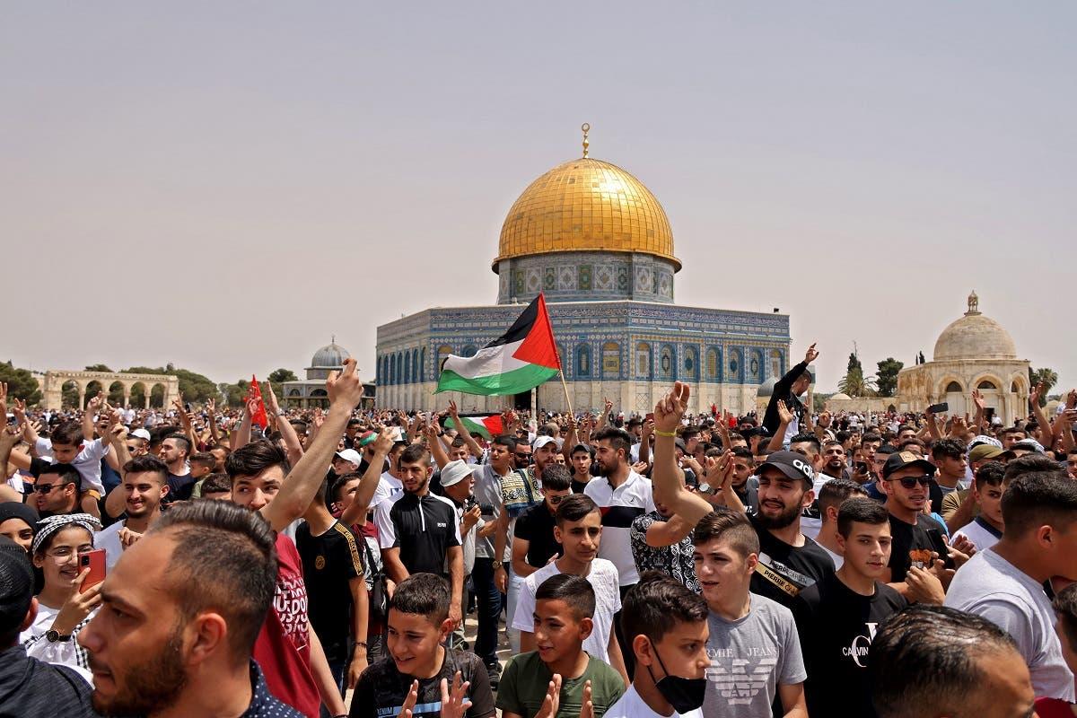 اشتباكات اليوم في محيط المسجد الأقصى بين فلسطينيين والشرطة الإسرائيلية