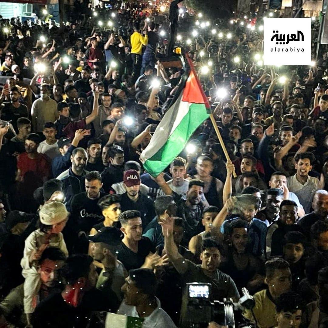 احتفالات تعم غزة بعد وقف النار