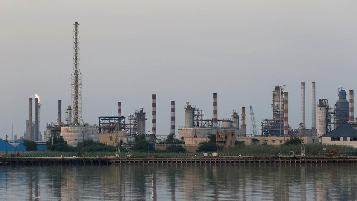 A general view of Abadan oil refinery in southwest Iran, is pictured from Iraqi side of Shatt al-Arab in Al-Faw south of Basra, Iraq September 21, 2019. REUTERS/Essam Al-Sudani
