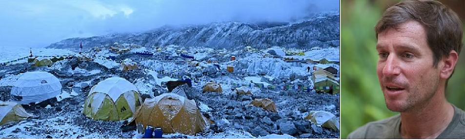 Fortenbach والمخيم حيث صعد الفيروس إلى جبل إيفرست ، وتسبب في إصابات