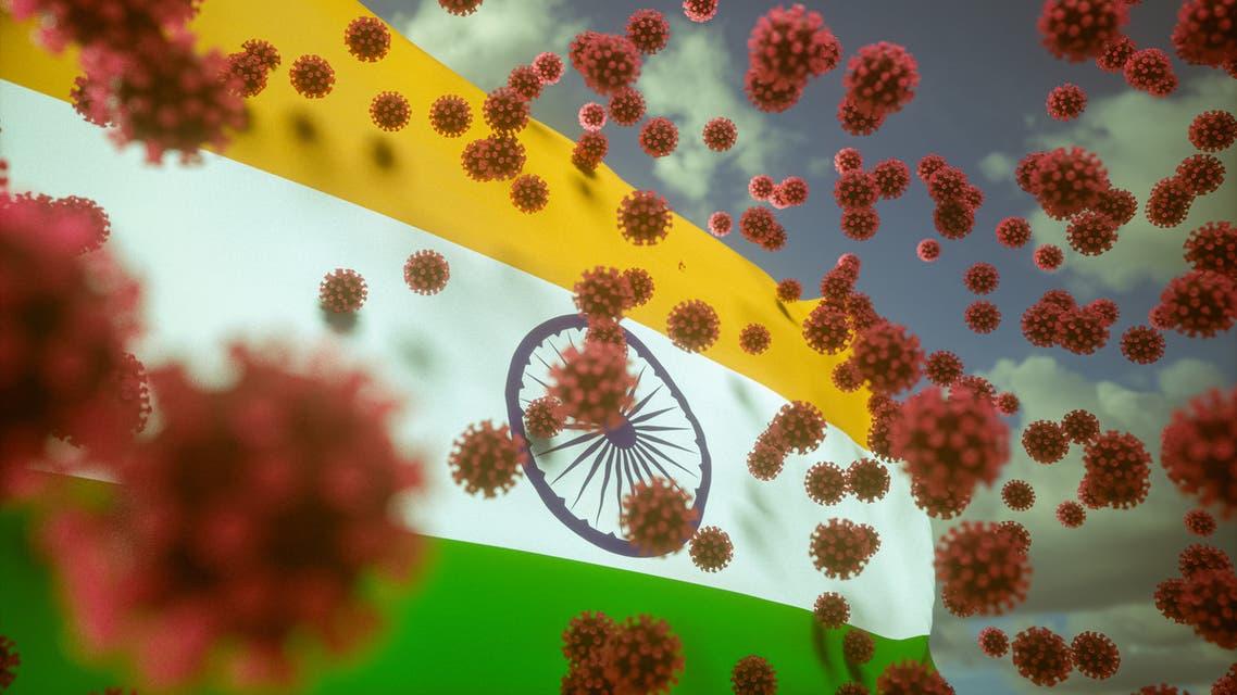 Virus Infects India stock photo