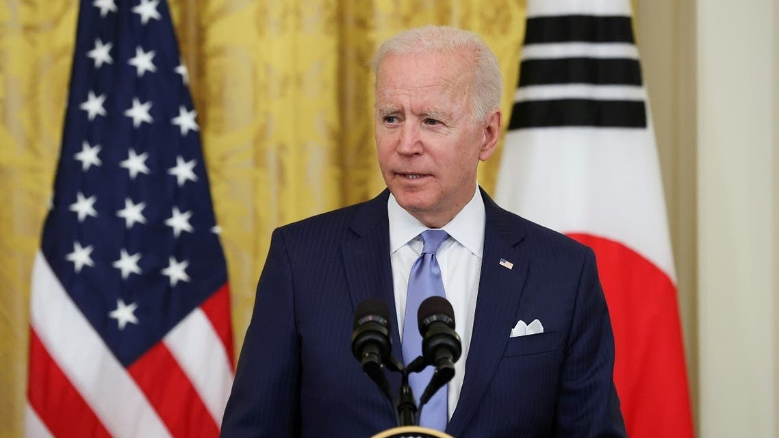 US President Joe Biden during a joint news conference at the White House, May 21, 2021. (Reuters)