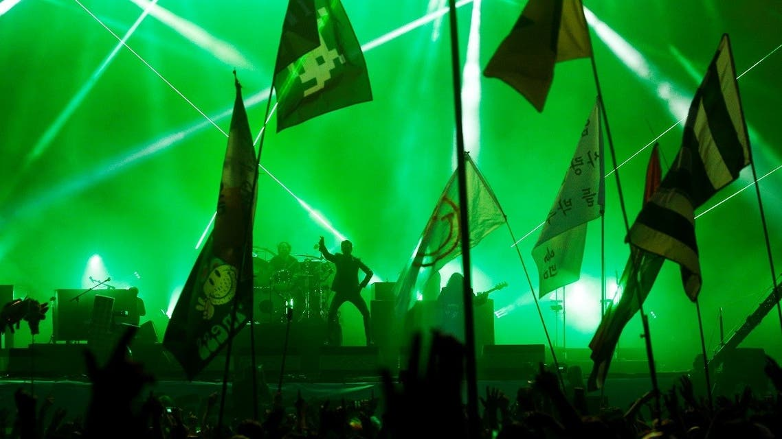 American band The Killers perform the Saturday headline slot at Glastonbury Festival in Somerset, Britain June 29, 2019. (File photo: Reuters)