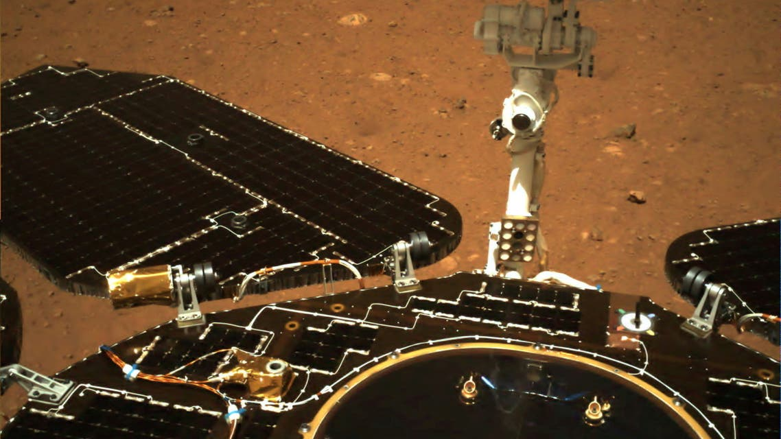 An image taken on Mars by Chinese rover Zhurong of China's Tianwen-1 mission is seen in this handout image released by the China National Space Administration (CNSA), May 19, 2021. (File Photo: Reuters)