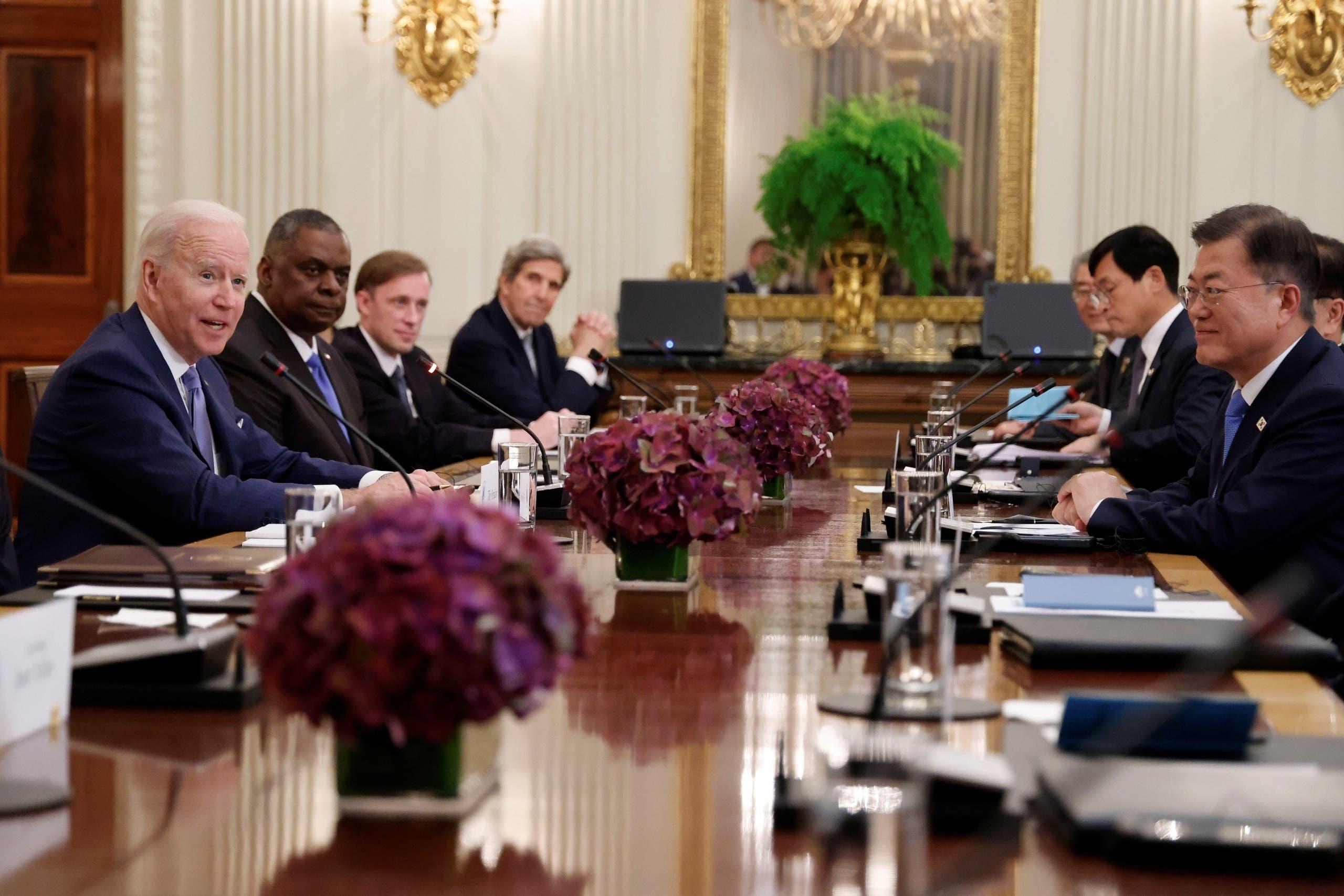 من المباحثات بين كوريا الجنوبية والولايات المتحدة الجمعة في البيت الأبيض