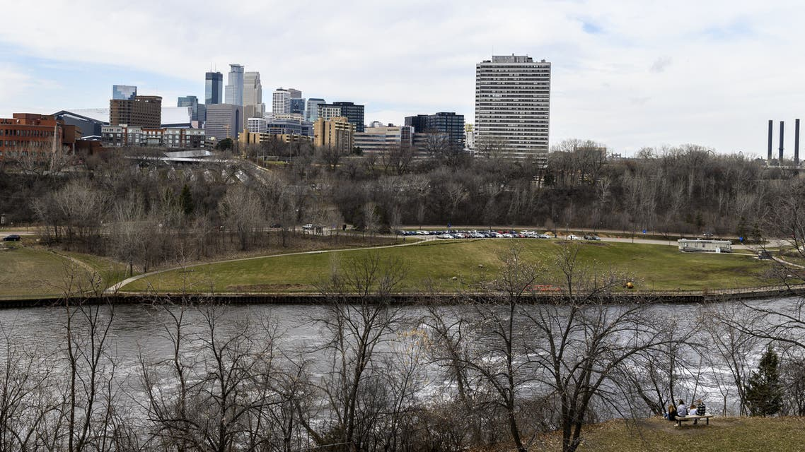 A general view of downtown Minneapolis and the Mississippi River on April 9, 2019 in Minneapolis, Minnesota. (AFP)