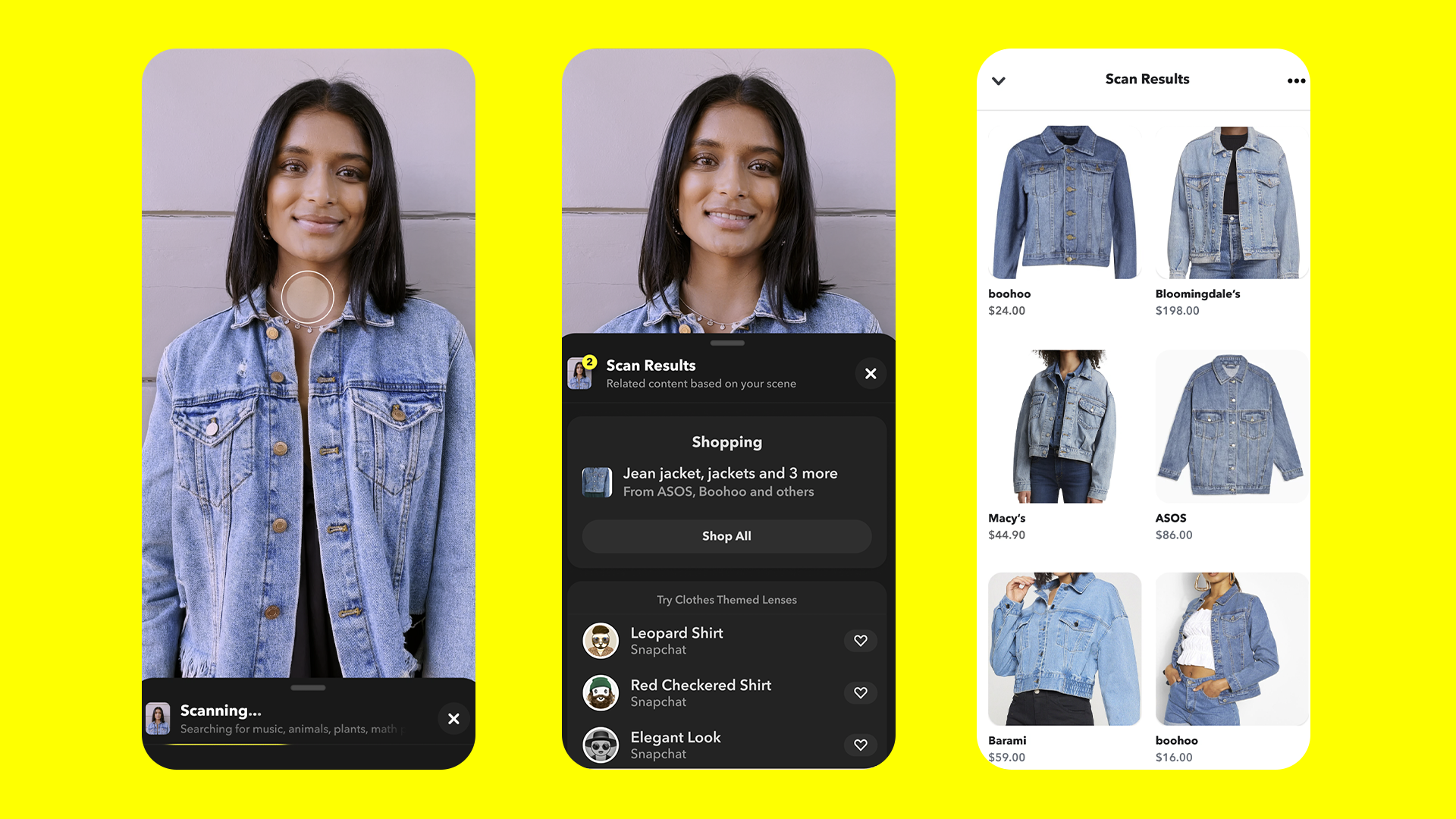 Snapchat's Screenshop offering. (Supplied)