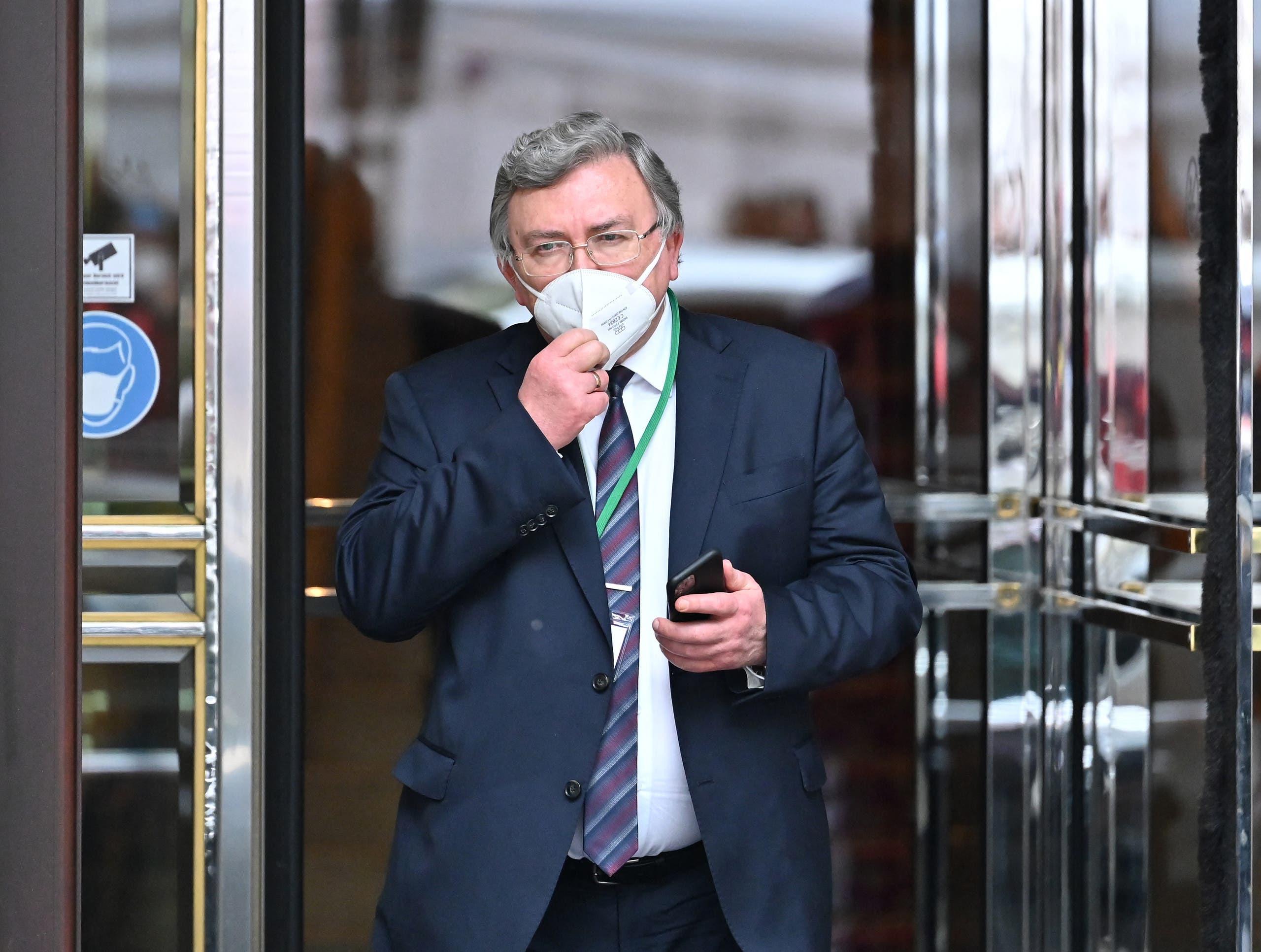 میخائیل اولیانوف ، نماینده دائمی روسیه در سازمان های بین المللی در وین (خبرگزاری فرانسه)