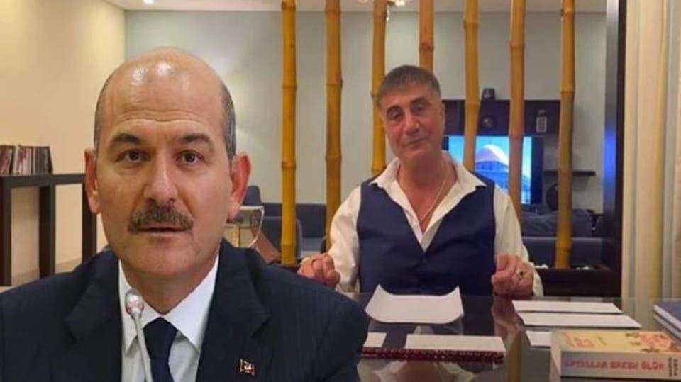 زعيم المافيا سادات بكر و وزير الداخلية سليمان صويلو