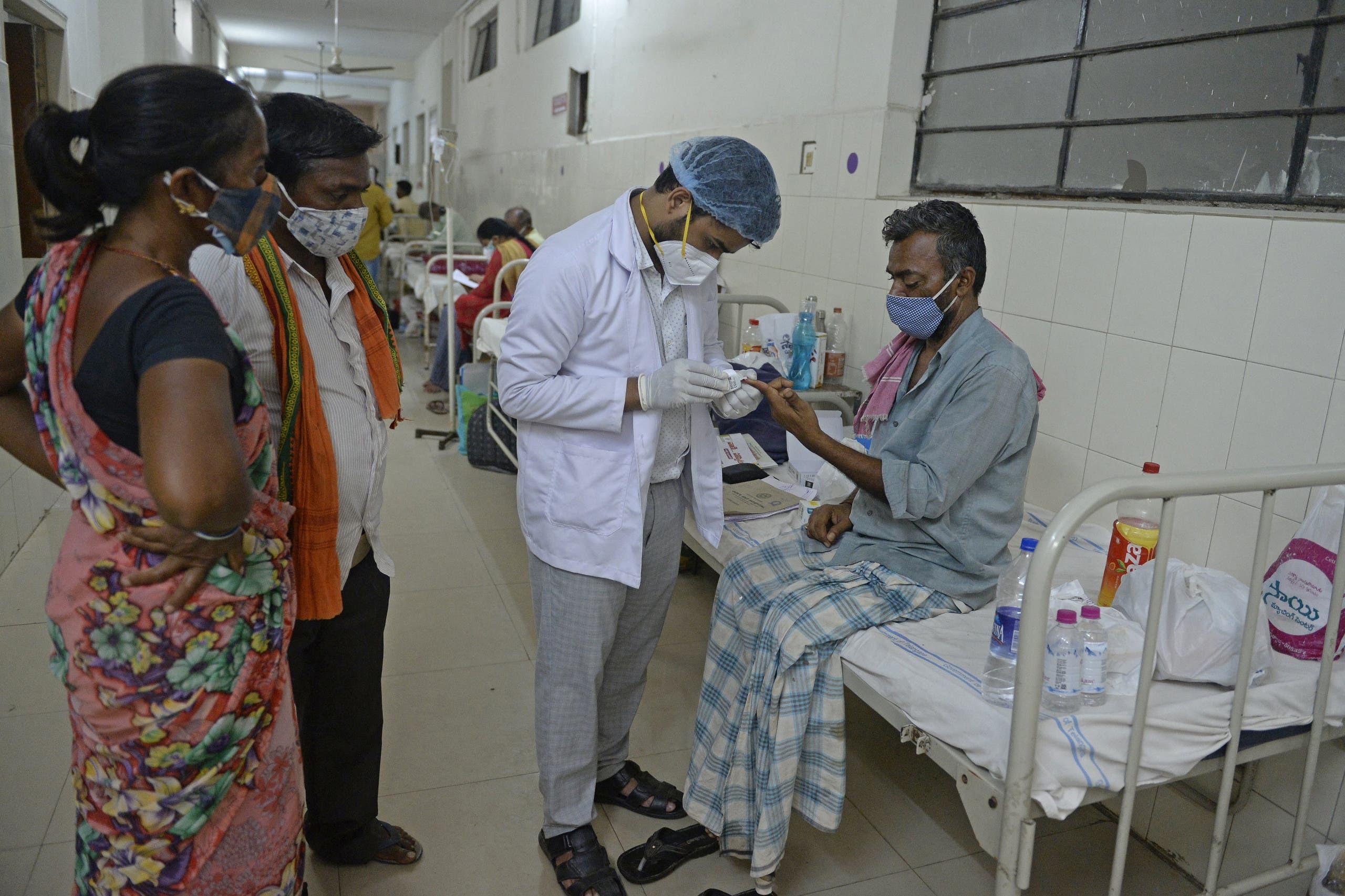 من مصابي الفطر الأسود في الهند (فرانس برس)