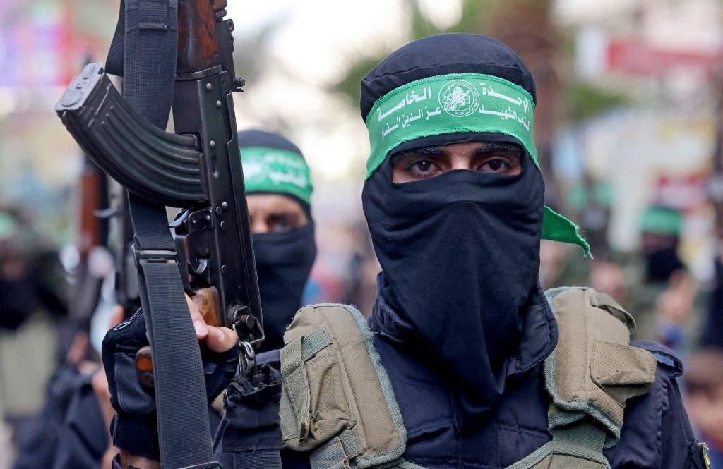 عنصر من كتائب القسام التابعة لحركة حماس في غزة - فرانس برس