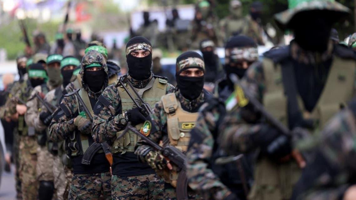 عناصر من كتائب القسام التابعة لحركة حماس في غزة - فرانس برس