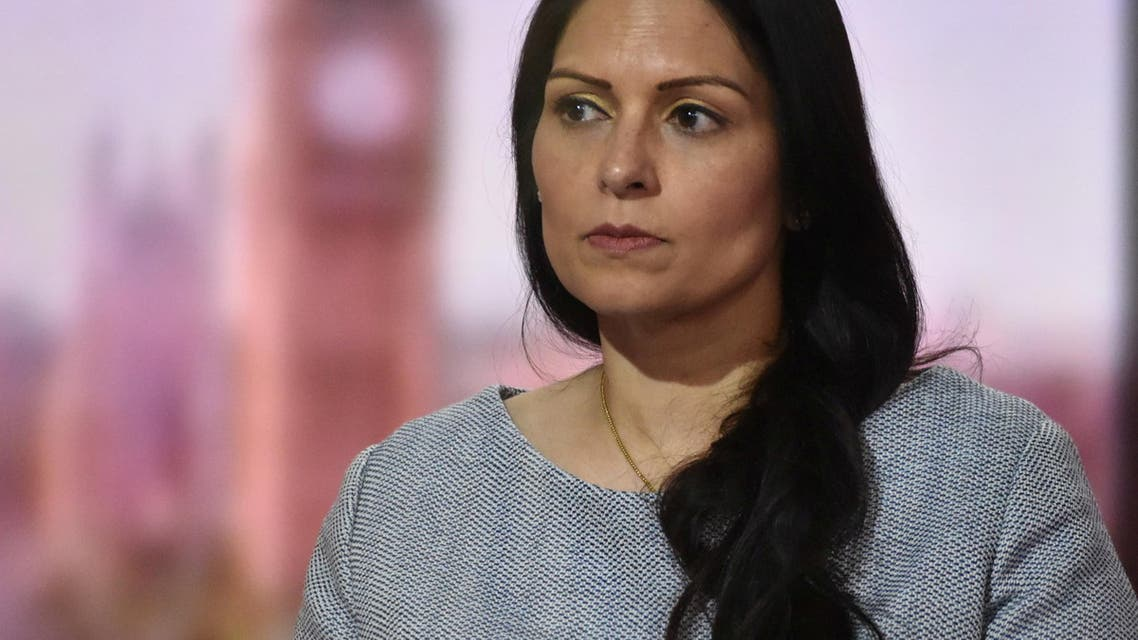 Britain's Home Secretary Priti Patel appears on BBC TV's The Andrew Marr Show in London, Britain May 23, 2021. (Reuters)