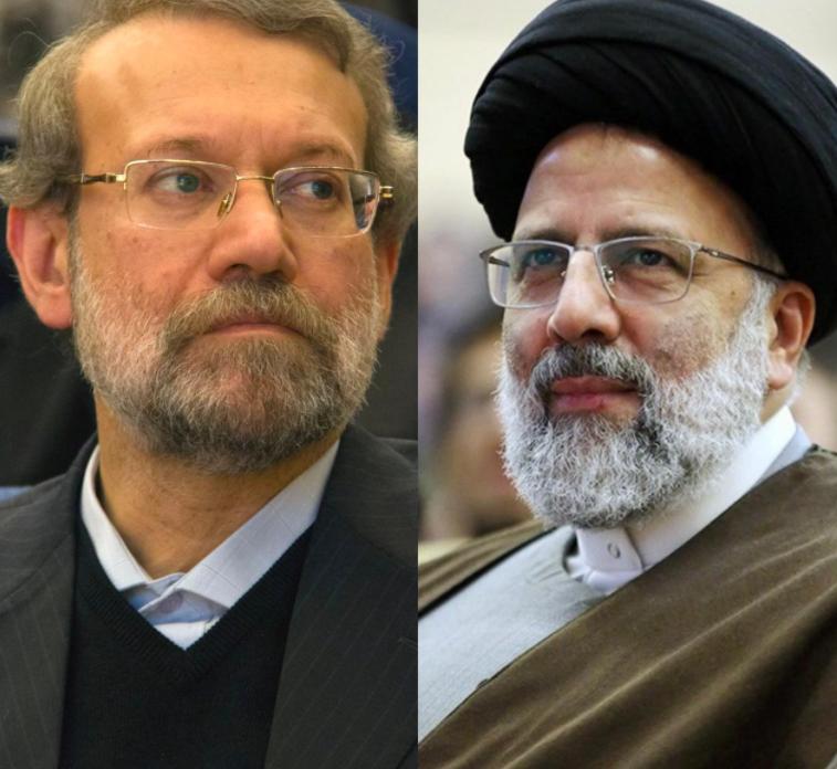 مرشحا الانتخابات الرئاسية في إيران.. من اليمين إبراهيم رئيسي وإلى اليسار علي لاريجاني