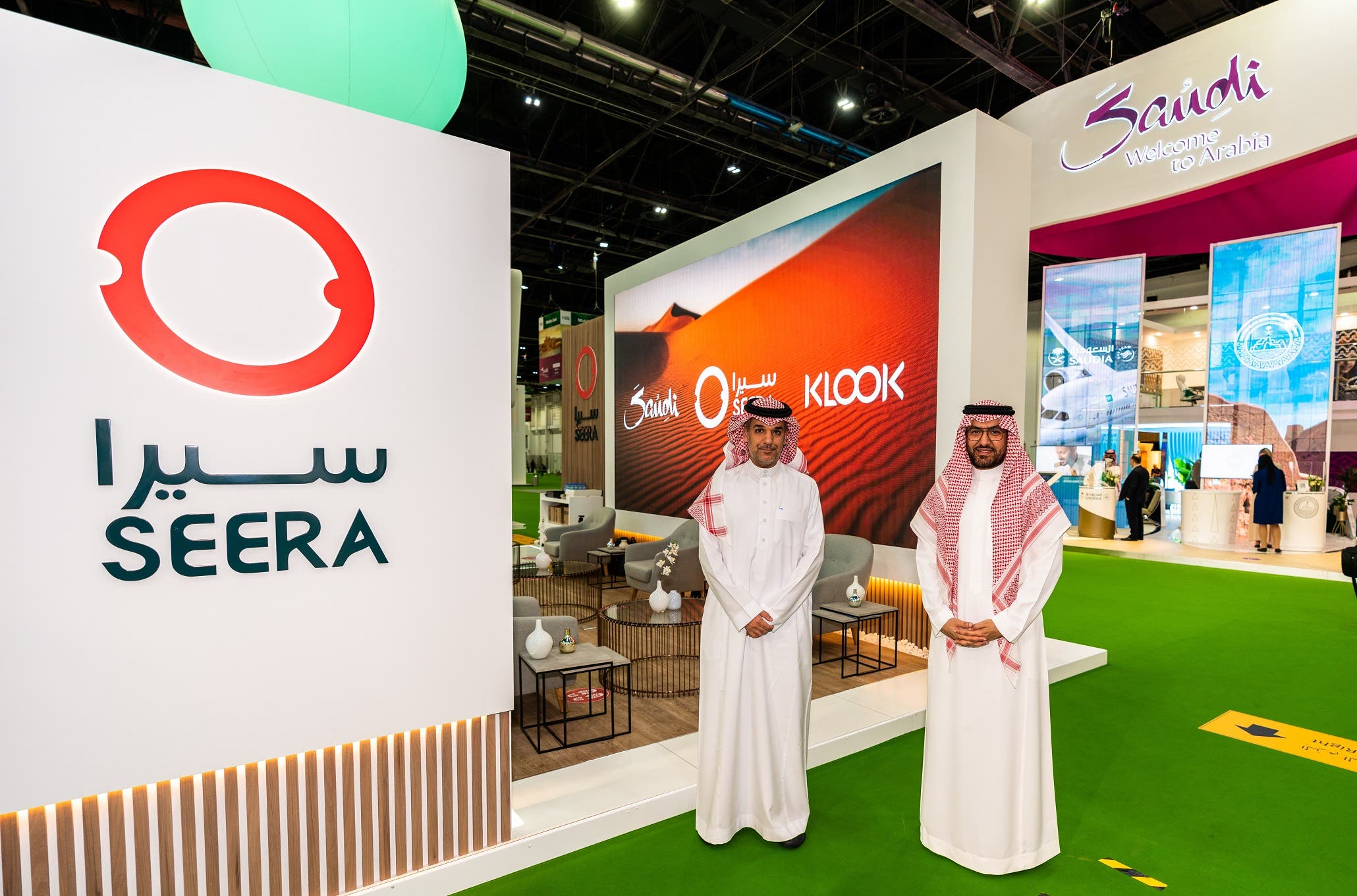 (L-R) Majed Alnefaie, Acting CEO, Seera Group and Fahd Hamidaddin, CEO , Saudi Tourism Authority. (Image: Supplied by Seera Group)