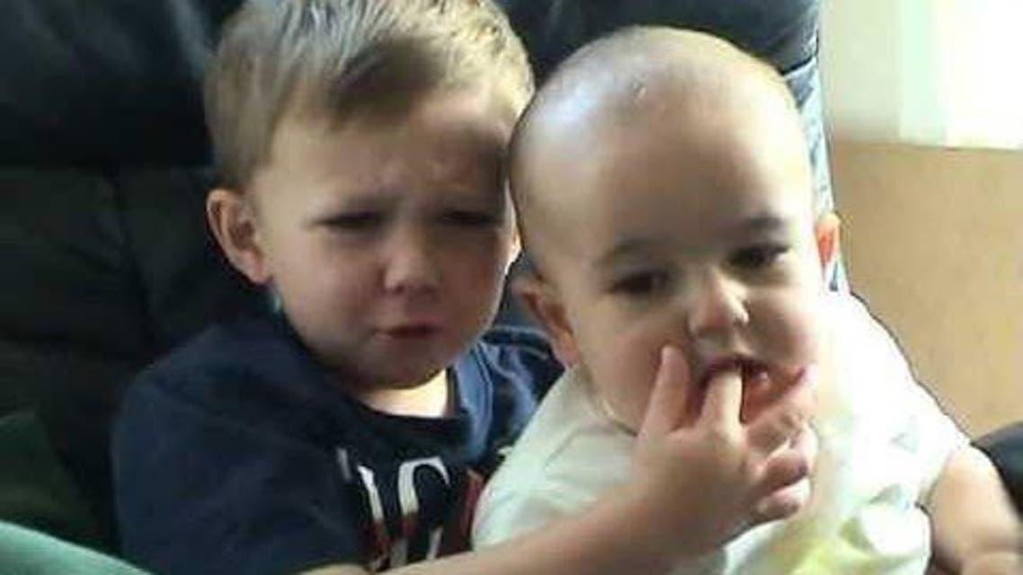 A screenshot from viral YouTube video 'Charlie bit my finger'. (Screengrab)