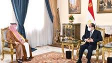 سعودی شاہی دیوان کے مشیر کی مصری صدر السیسی سے ملاقات