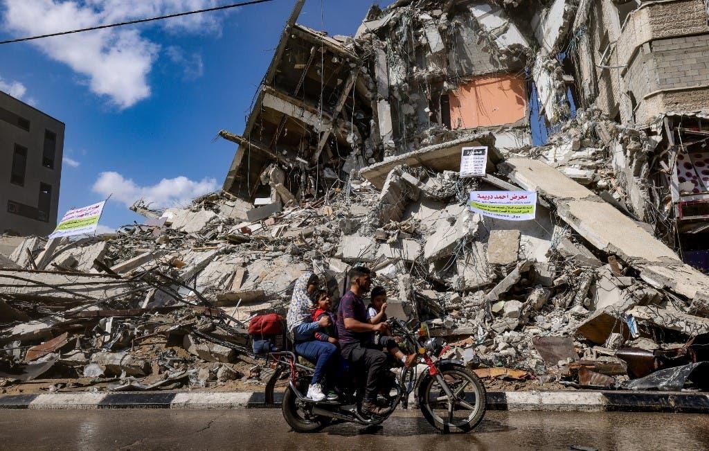 آثار الدمار في غزة نتيجة القصف الإسرائيلي