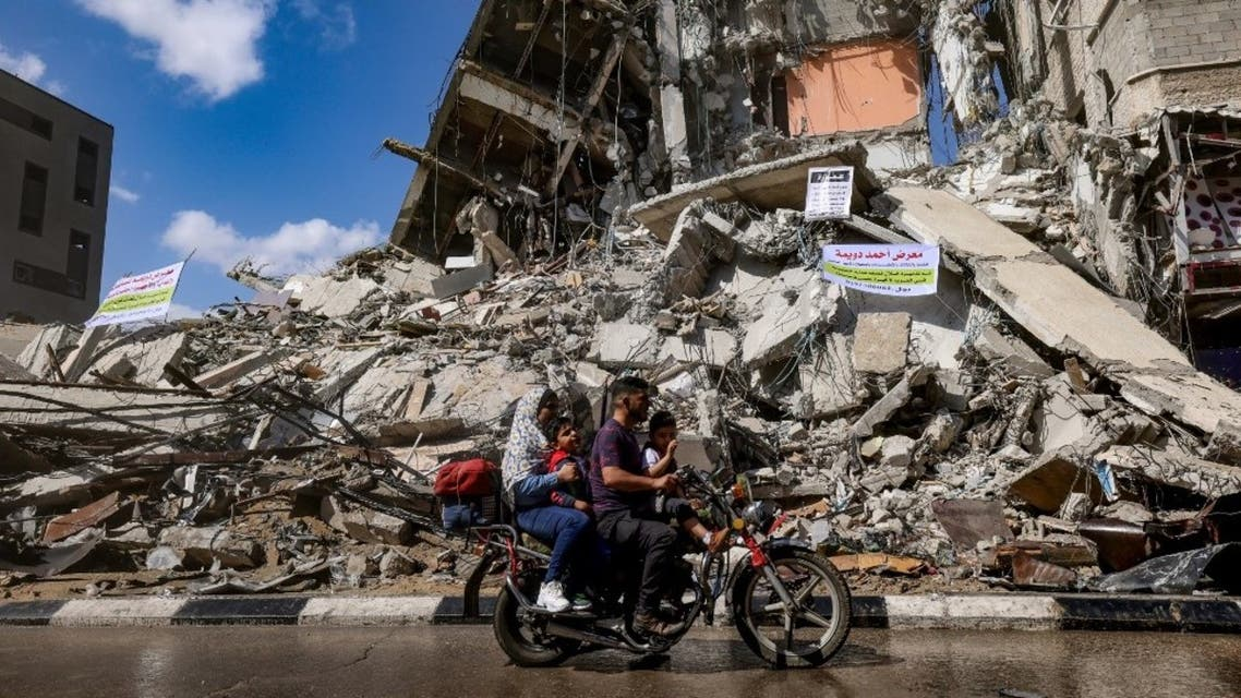 آثار الدمار في غزة نتيجة القصف الإسرائيلي- فرانس برس