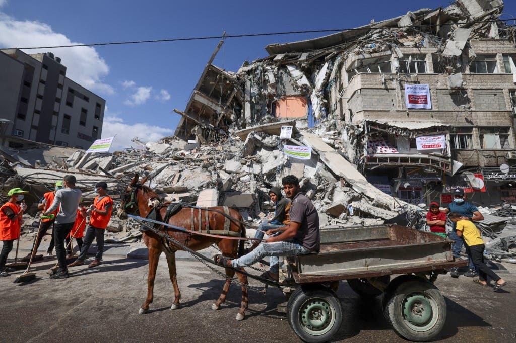 ركام ودمار في غزة (أرشيفية من فرانس برس)