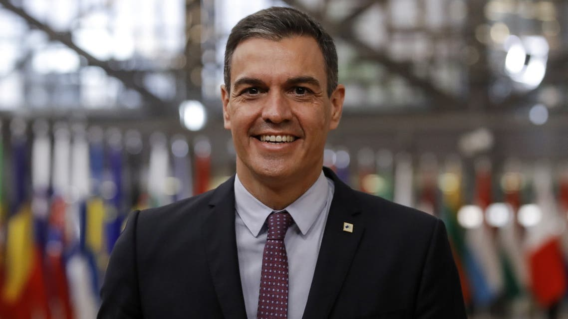 Spain's Prime Minister Pedro Sanchez arrives for a face-to-face EU summit in Brussels, May 24, 2021. Olivier Hoslet/Pool via REUTERS