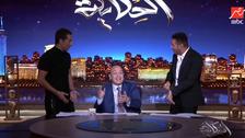 """""""يالا لم حاجتك"""".. مصطفى شعبان وعمرو سعد يقتحمان الاستوديو على عمروأديب"""