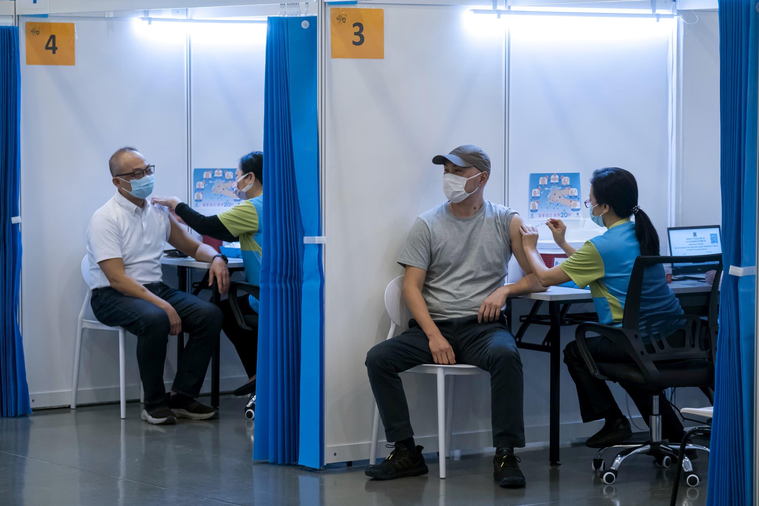 من حملة التطعيم ضد كورونا في هونغ كونغ