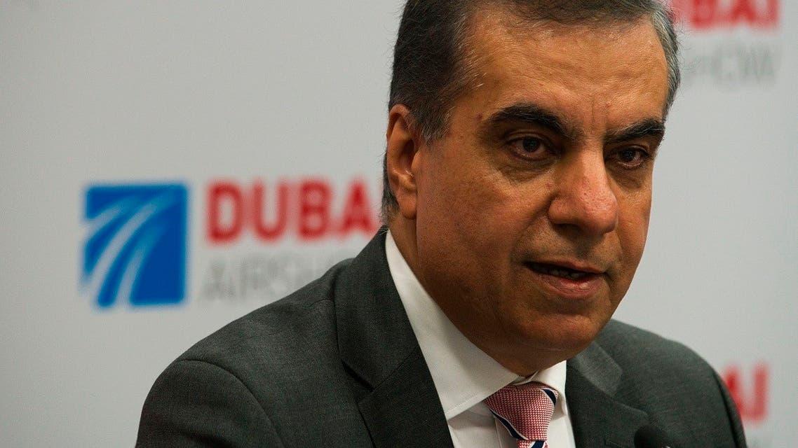 Adel Abdullah al-Ali, Air Arabia CEO speaking at a news conference. (File photo: AP)