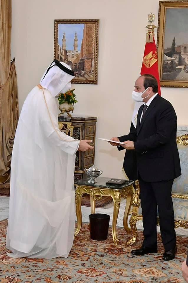 السيسي يستقبل وزير الخارجية القطري
