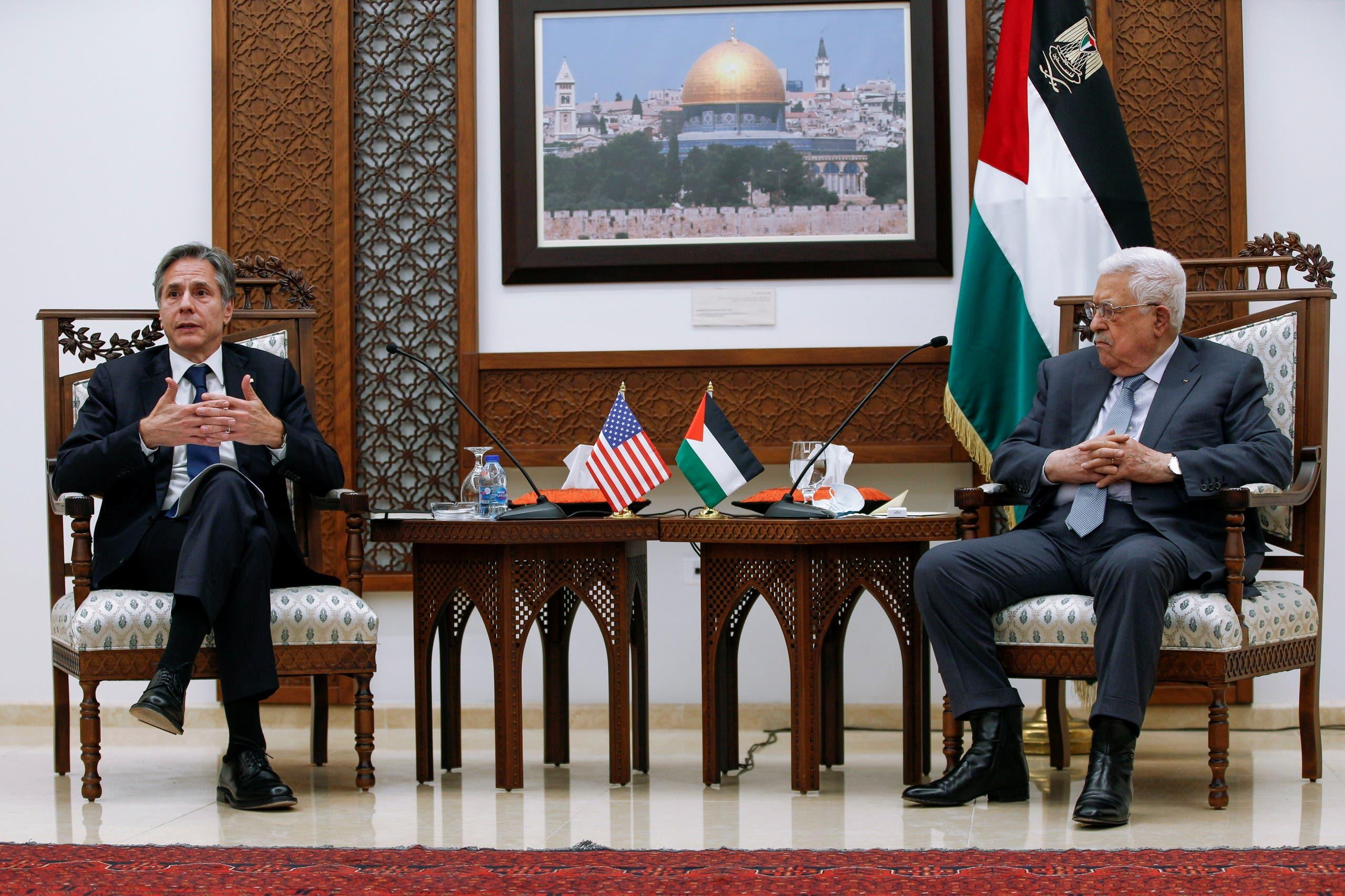 من لقاء بلينكن بالرئيس عباس