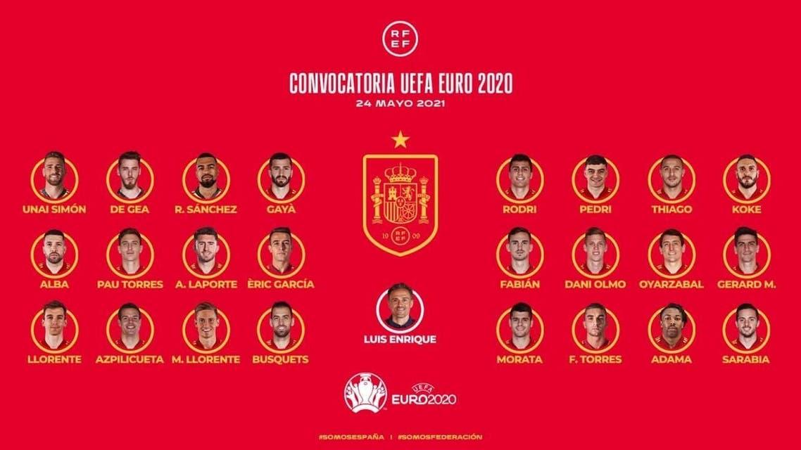 تیم ملی اسپانیا یورو 2020