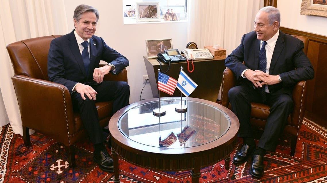 بنیامین نتانیاهو و آنتونی بلینکن
