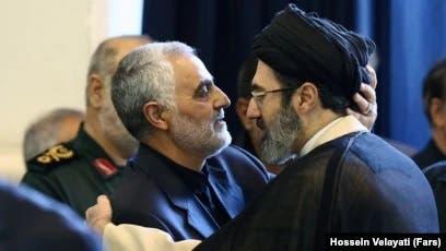 مجتبی خامنئي مع قاسم سليماني