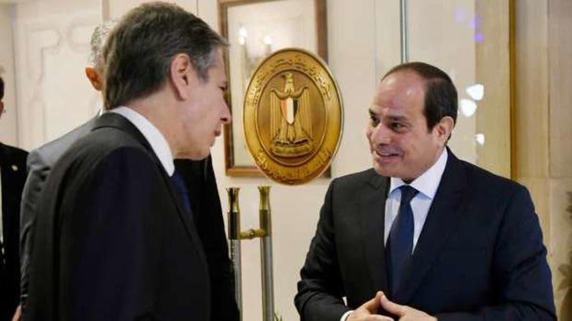 جانب من لقاء الرئيس السيسي والوزير بلينكن